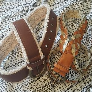 Accessories - Set of two imitation leather belt size 11